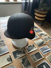 WW2 German M40 Helmet With Battle Damage And 55 German Ww2 Photo's