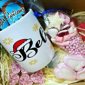 Christmas Mug Gift Box Isolation Lockdown Believe Chocolate Sweets Marshmallow