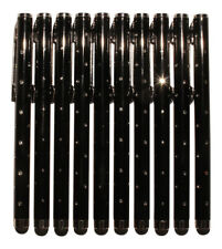 10x negro Stylus Touch Pen pedrería óptica Tablet celular atiende lápiz Glamour