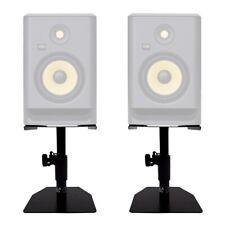 More details for gorilla gsm-50 speaker desktop studio monitor stands table top (pair)