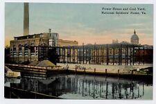 1909 HAMPTON VA Power House National Soldiers Home Barge postcard