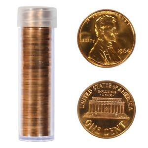 1964 LINCOLN MEMORIAL CENT PENNY GEM PROOF RED  FULL ROLL 50 COINS