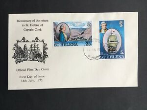 ST HELENA 1975 FDC CAPTAIN COOK