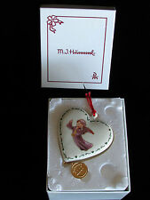 Ornament Hummel Danbury Mint Angel Cherub Hearts Chrismas Trumpet Music Gold Box