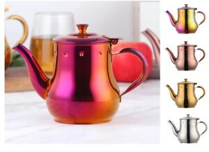 Olive Oil Pot Sauce Seasoning Drip Kettle 500ml Stainless Steel Teapots Infusers