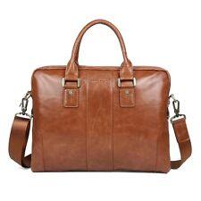 Herren Echt Leather aktentasche laptoptasche lehrertasche business Umhängetasche