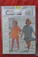 #4338 BURDA Sewing PATTERN GIRLS Dress-Top-Pants Size 6-12years NEW-UNUSED-UNCUT