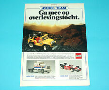 LEGO MAGAZINE ADVERT MODEL TEAM 1980s DONALD DUCK HOLLAND