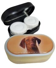 Furry Friends Dog Mirror Case Contact Lens Soaking Storage Case - Pointer