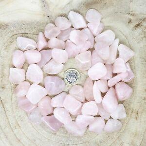 50 x Rose Quartz Crystals Tumblestones Seconds 510g-515g Reiki Healing Wholesale