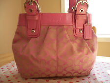 COACH 15047 SIGNATURE SOHO PLEATED TOTE BAG NEW PINK