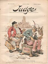 1889 Judge July 27 - Britain offers to buy all of Uncle Sam; betting on Sports