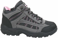 New Womens Grey Pink Hiking Trail Walking Rambling Boots  FREE UK SHIPPING