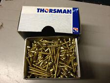 Thorsman / Schneider Brass Round Head Slotted Screw 8 x 2 (Pack of 200)