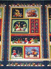 Tis the Giving Season Teresa Kogut Christmas Bears Fabric Panel  23""