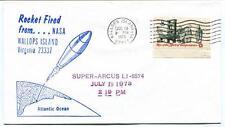 1973 Wallops Island ROCKET FIRED Super Arcus LI-6574 WFF Goddard Base NASA