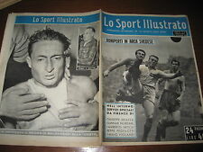 LO SPORT ILLUSTRATO GAZZETTA 1951/46 ITALIA SVEZIA BONIPERTI KOBLER RUGBY