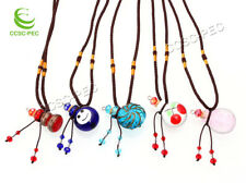10pcs lots Glass Bottle Pendant Necklace Perfume Essential Oil Diffuser Handmade