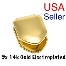 14k Gold Plated Single Tooth Cap Grillz Hip Hop Teeth Grill w/Mold *USA Seller*
