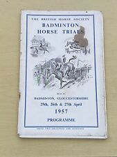 More details for the british horse society badminton horse trials programme - april 1957