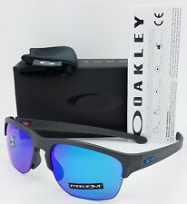 NEW Oakley Sliver Edge sunglasses Steel Prizm Sapphire Polarized blue 9414-0663