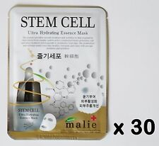 30pcs Korea Beauty cosmetics [Malie] STEM CELL Essence Face Mask sheets & peels