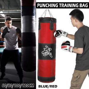 120cm Heavy Duty Punching Training Bag Boxing Martial Art Kicking Sandbag  AU~