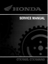 2014 2015 2016 Honda CTX700 motorcycle service manual in 3-ring binder