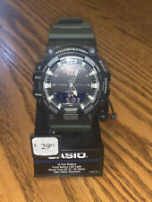 Casio HDC700-3AV, 10 Year Battery Combo, Green Resin Band, 3 Alarms, Telememo