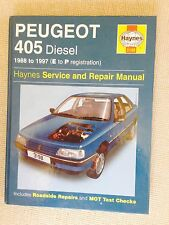 Peugeot 405 Diesel 1988-97' All Models Haynes Manual