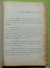 Tapuscrit INCENDIE DU PAQUEBOT GEORGES PHILIPPAR 1932 Dépositions Albert Londres