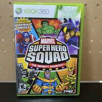 Marvel Superhero Squad Infinity Gauntlet (Microsoft Xbox 360, 2010) Complete CIB