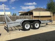 Tandem Trailer Plant trailer Machine bobcat excavator trailer 4.5ton gvm