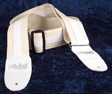 REBEL FANCY FAUX LEATHER GUITAR STRAP GTO SERIES CREAM / WHITE