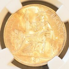 1937 FRENCH INDO-CHINA 20 Cent  Silver Coin NGC MS 62