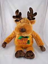 Dan Dee Reindeer Deer Plush Wish Upon a Star Christmas 18""