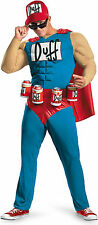 The Simpsons Duffman Classic Muscle Adult Costume X Large 42 46