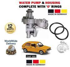 Per VW Golf MARK MK 1 1.6 1.8 GTI 1.6 D 1.6 TD 1980-1993 POMPA ACQUA + Alloggiamento Posteriore