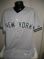 MLB New York Yankees On Field Authentic Road Gray Jersey Majestic Mens Chest Sz