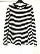 H&M Black & Off White Long Sleeved T-shirt Top M 12 NEW!