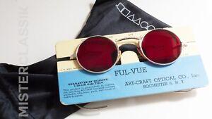 Art Craft Round Oliver Peoples Vintage Eyewear collection Sil Blood Red lenses