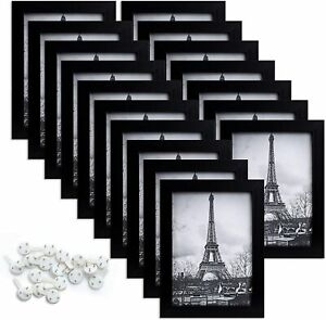upsimples 5x7 Picture Frame with Real Glass,Bulk Photo Frames for Wall-US