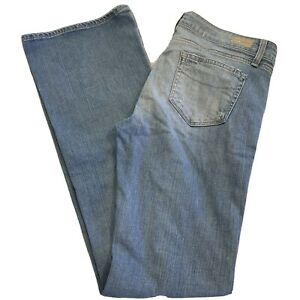 Paige Womens Size 29 X 34  Distressed Hollywood Hills Classic Rise 8 In Jeans
