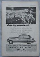 1949 Sunbeam-Talbot Original advert No.1