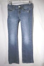 AMERICA EAGLE GIRLS SIZE 2 JEANS SLIM BOOT STRETCH DISTRESSED #AU246