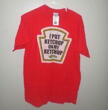 HEINZ KETCHUP med T shirt w/ tags 57 Varieties catsup tee Pittsburgh logo NWT