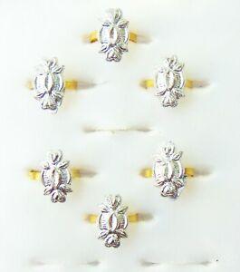 6Pc Toe Rings Set Indian Wedding Nickel Toe Ring 3 Pair Women Bichiya ADJUSTABLE
