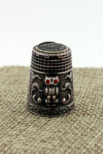 Sterling Silver Owl Collectible Thimble Made in Portugal