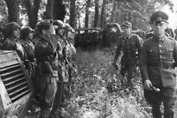 Photo guerre WW2 général Rommel et soldats allemands format 10x15 cm n504