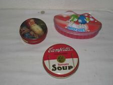 Vintage Campbell Tomato Soup M&M's Love me and Robel Ball Tin